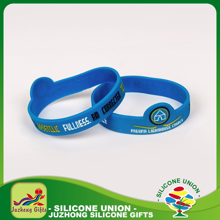 Rubber corporate gifts unique silicone bracelet with logo