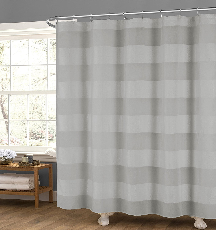 Buy Echo Design Pleated Stripe Fabric Shower Curtain Multi-color ...