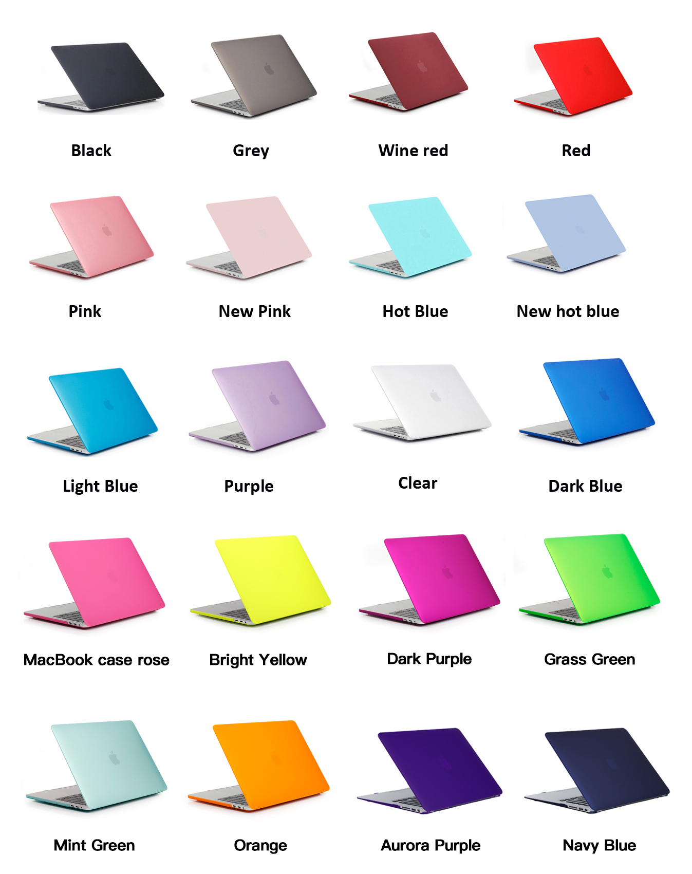 20 Colors Option Crystal glossy shell case for macbook pro a1226