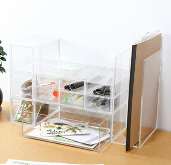 Transparent acrylic desk organizer stationery holder - Acrylic desk organizer set ...