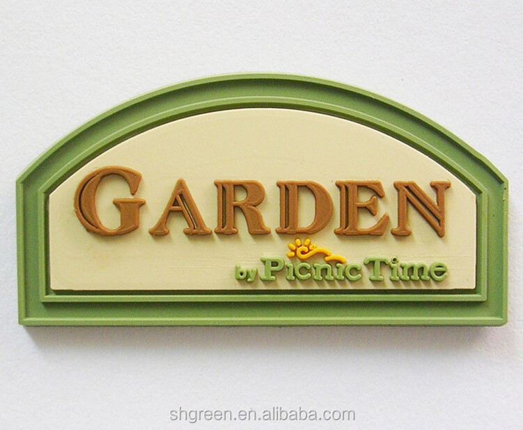 3d Logo Relief Name Rubber Patch