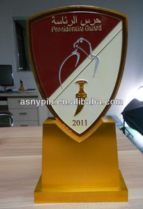 presidential guard awards trophy shield/UAE wooden trophy shield