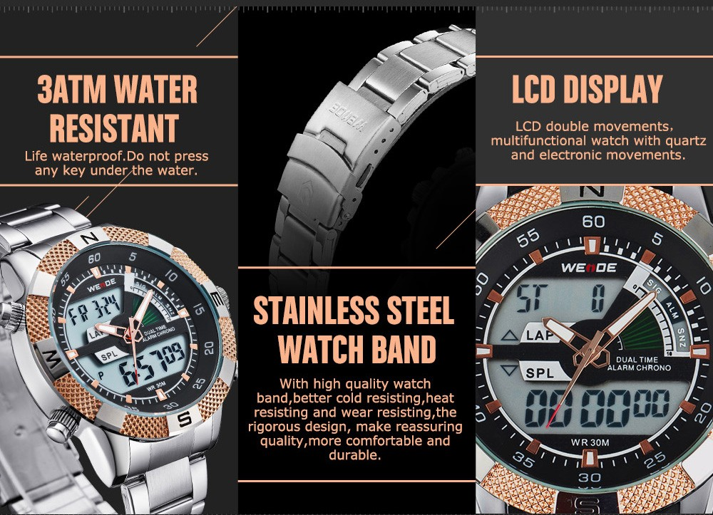 men outdoor watch sports compass display digital multifunction sunroad watches pedometer lcd altimeter barometer clock