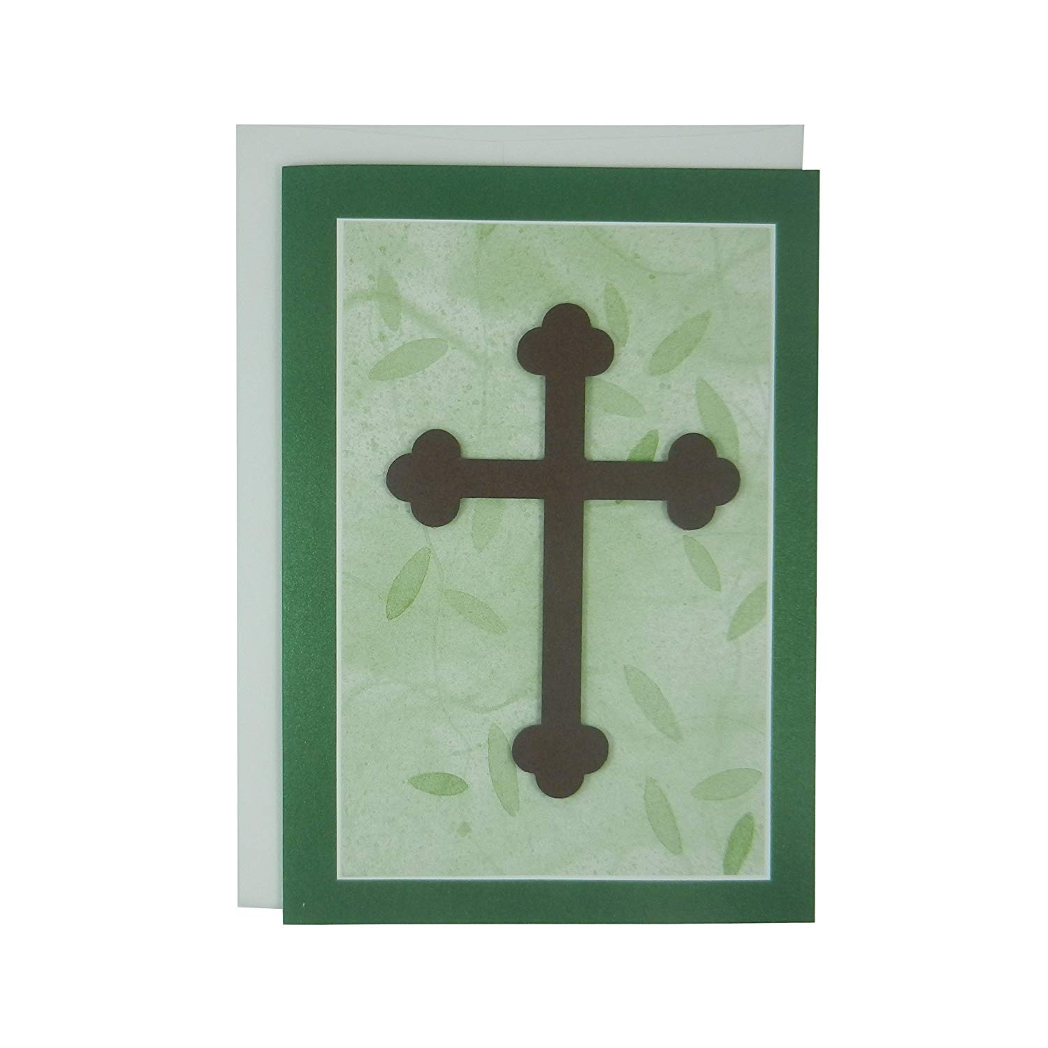 get quotations handmade religious cross card blank card religious gift crucifix catholic cross first communion card baptism card