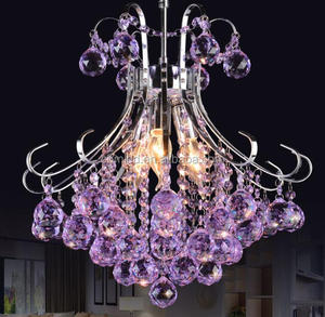 Purple Color Pendant Lighting Modern Chandeliers With Good Quality Inexpensive