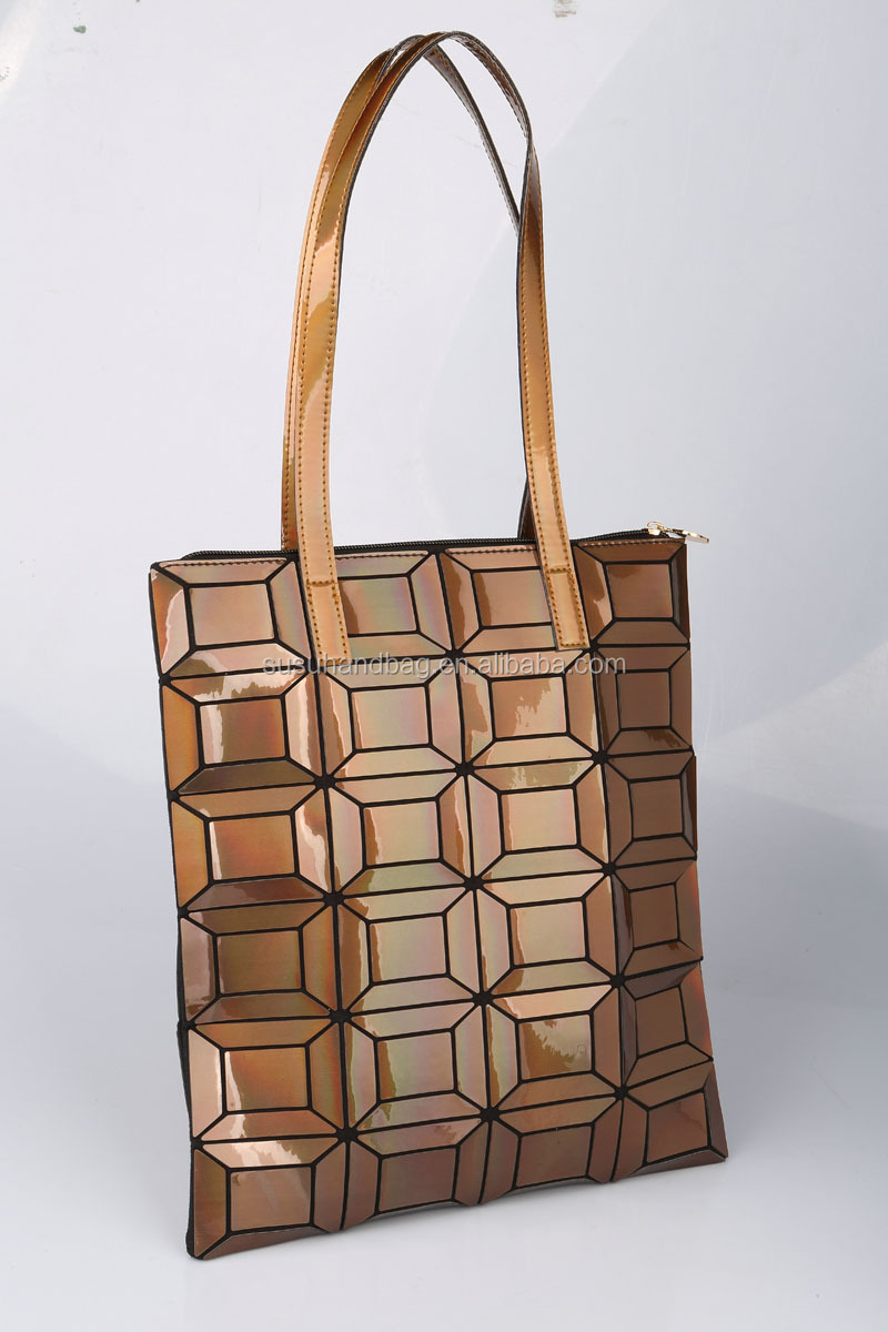 Stylish Shiny Patterned TPU Holographic Tote Bags