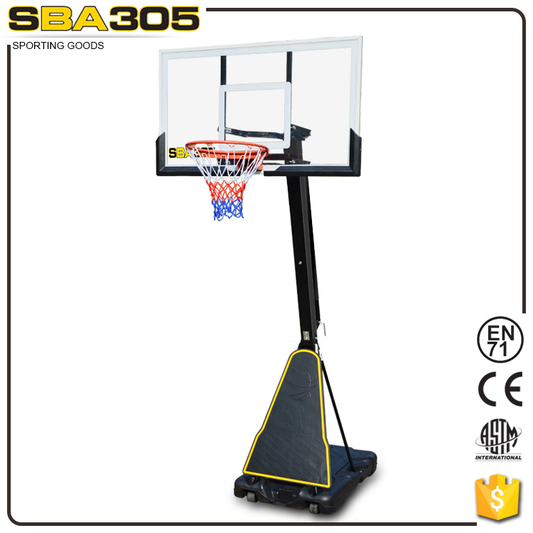 sport equipment basketball hoop with basketball board pole