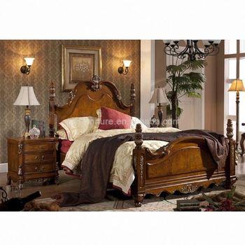 Best Design Furniture Bedroom Wood Double Bed