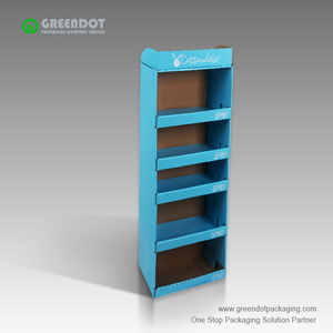 Placed in front of the wall corrugated paper floor display rack customized color printing corrugated sidekick display racks