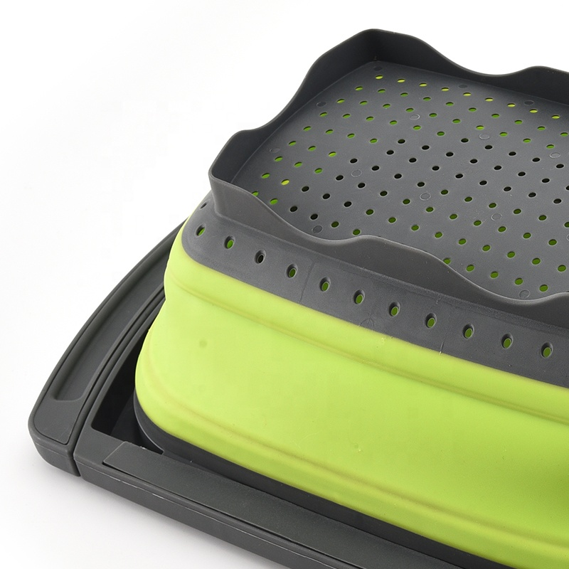 Over the Sink Collapsible Colander with Extendable Handles Kitchen Retractable Strainer Basket