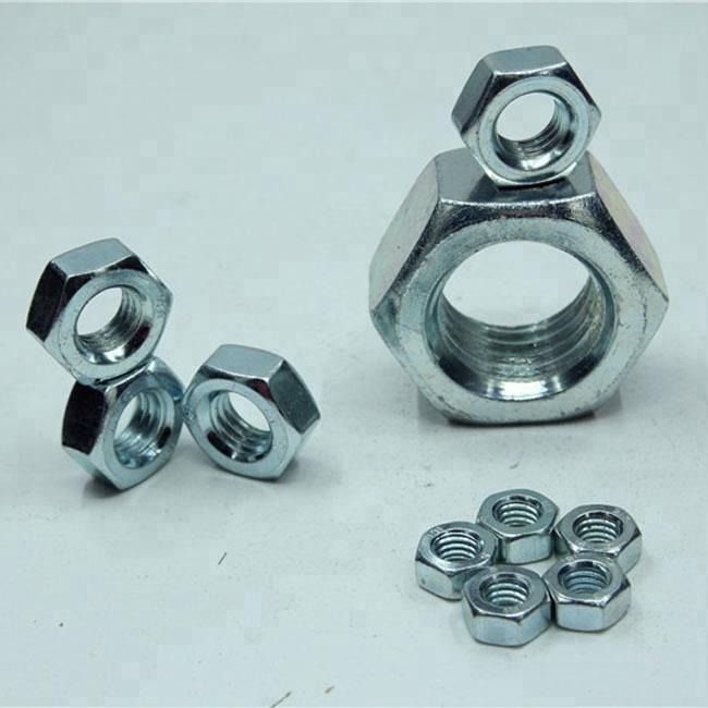 chapadas en zinc, 10 unidades Tuercas hexagonales M20