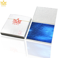 2018 New product environmental 9x9cm royal blue Taiwan gold foil paper for crafts