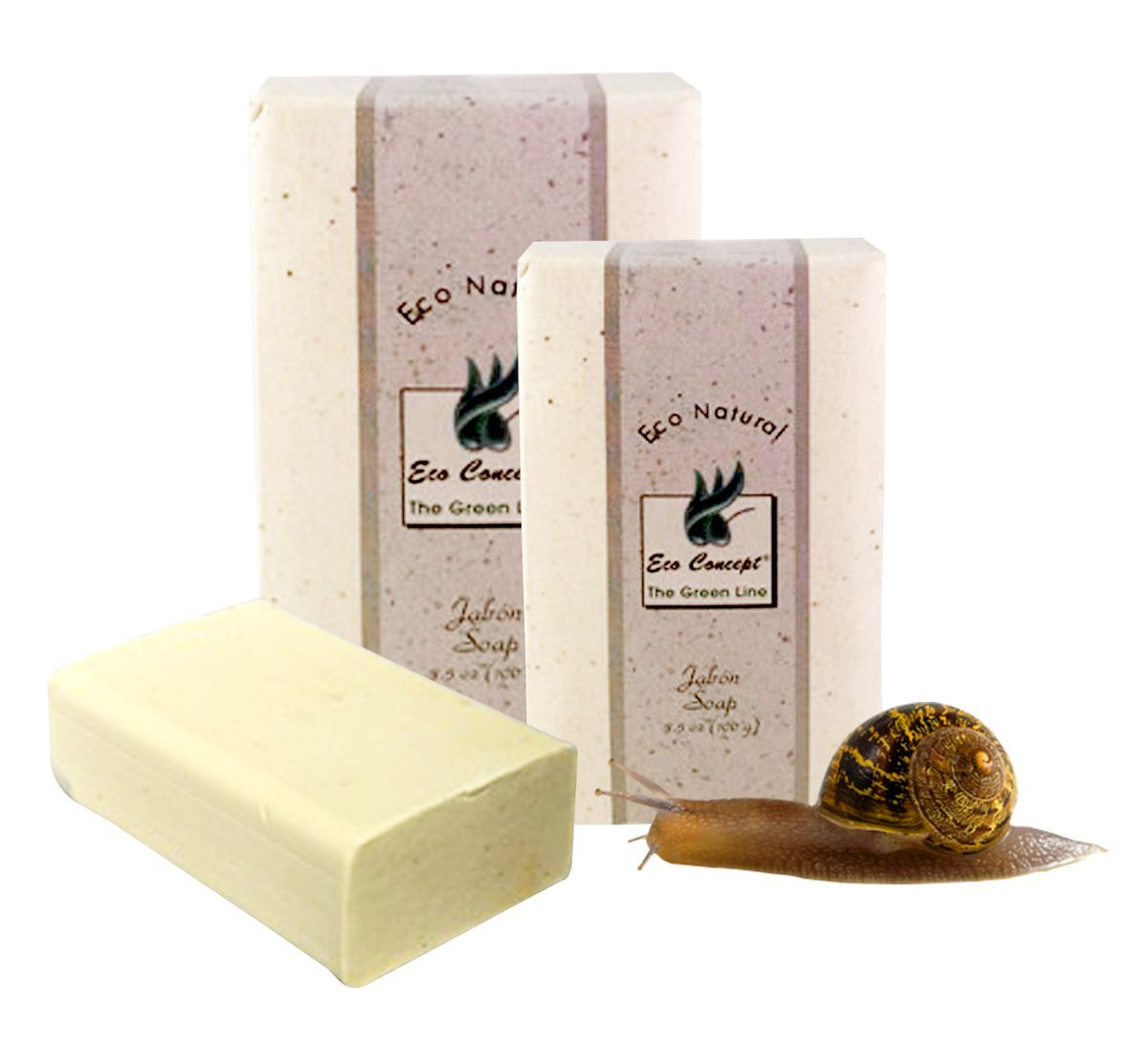 Eco Concept Snail Slime Soap 100 grs from Costa Rica. (Package of 2).