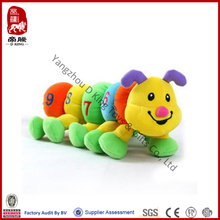 De china al por mayor número de peluche peluche juguete suave education caterpillar