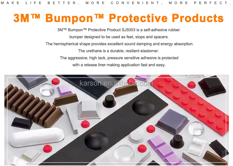 3M Bumpon Protective Products 11.2 X 5.1 Mm  Black Anti Slip 3M Self-Adhesive Silicone Rubber Feet Pads