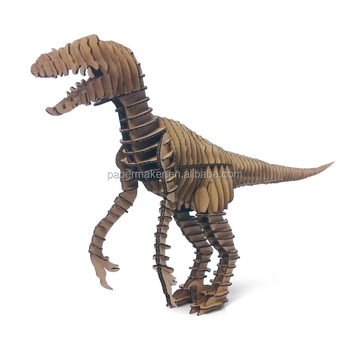 dinosaur skeleton model 3d puzzle diy toy model printable jigsaw puzzle paper