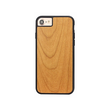 Carved Blank Natural Cherry Wood phone Case for iPhone 7/8 Plus