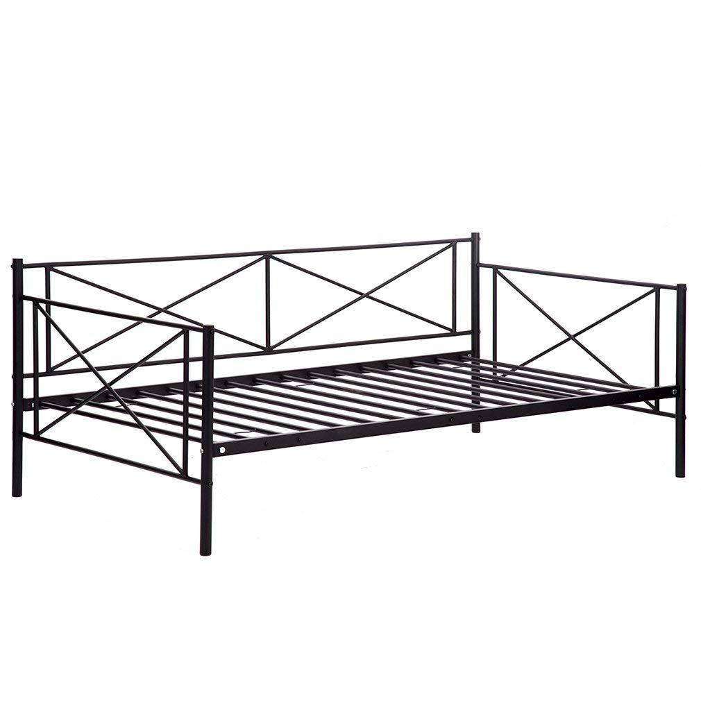 BMS Daybed Metal Daybed Frame Twin With Steel Slats Bed Frame Box Spring Replacement