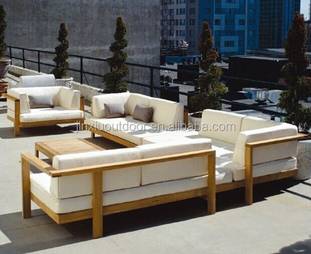 Luxury garden garden outdoor deep seating lounge teak for Luxury garden furniture
