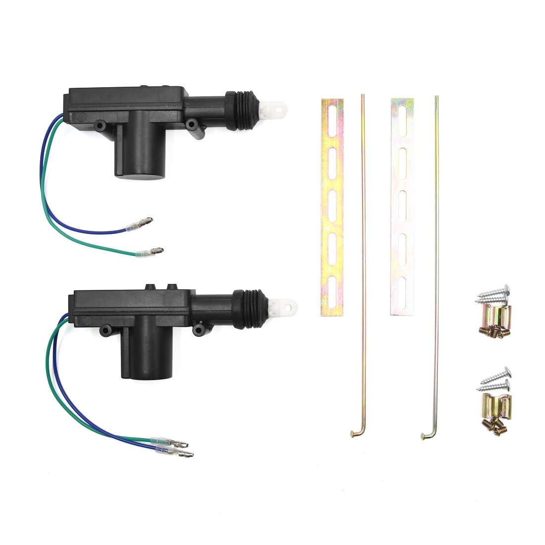 uxcell Universal Car Power Door Lock Actuator Kit for Central Locking System 2 Wire DC 12V Pack of 2