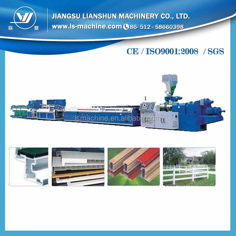 China wood plastic composite board making machine WPC compound board production <strong>line</strong> for sale