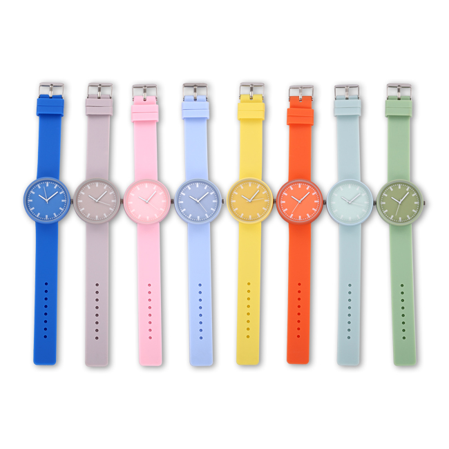 Jelly color children's watch quartz movement silicone brand