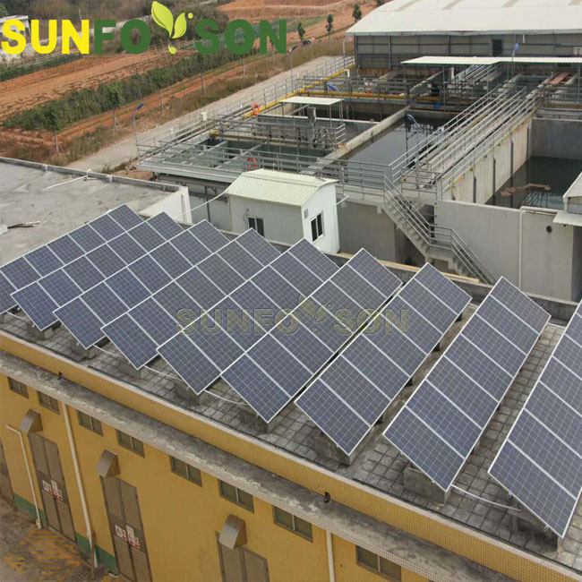 Anodized aluminum Ground Mount Solar PV Racking Systems Solution