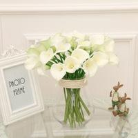 2017 new arrival pu calla lily artificial flower for home decor large artificial flower arrangements