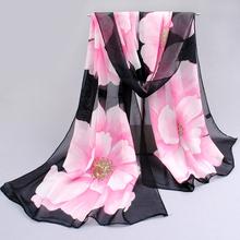 Krásný jarní šátek s květinami nebo motýlky z Aliexpress