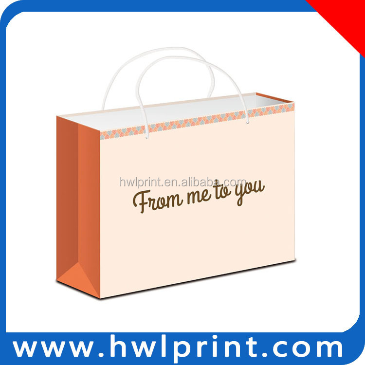 popular paper gift package bag shirt package bag wholesale
