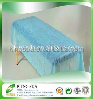 Hot sale online high quality cheap polypropylene bed nonwoven fabric medical bed mattress fabric disposable bed sheet
