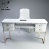 King shadow nail tables manicure table vacuum and nail salon furniture