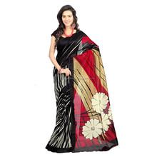 Rood& off white chapa kunst <span class=keywords><strong>zijde</strong></span> gedrukt <span class=keywords><strong>saree</strong></span>.