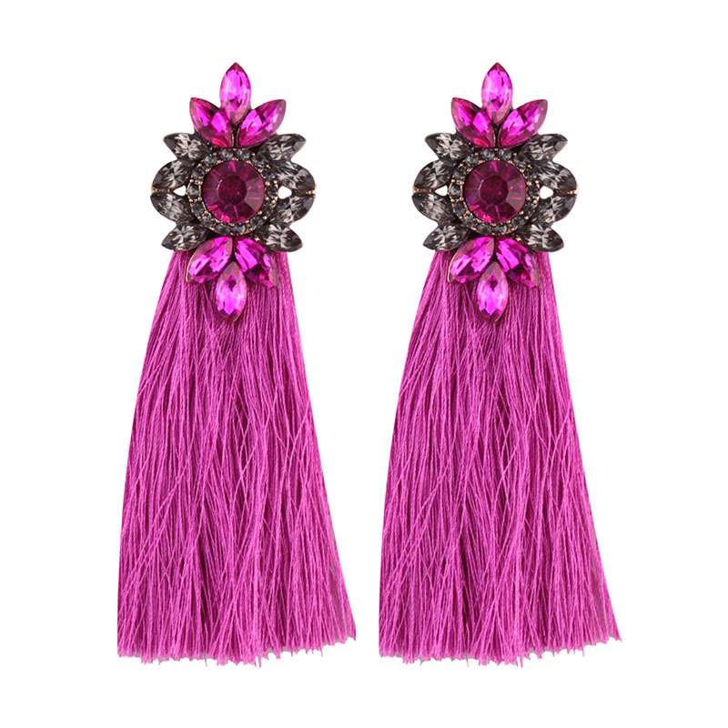 10286 Dvacaman Spain Fashion Long Tassel Earrings Jewelry Women Wedding Statement Tassel Long Drop Dangle Earrings