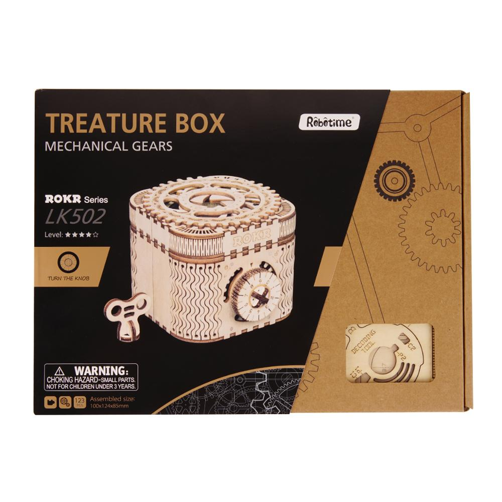 Robotime LK502 3D wooden puzzle treasure box for gift