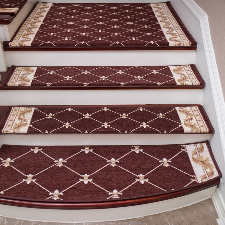 Coffee Color New Style 100% Polyester Jacquard Belgium Chinese Wool Rugs Dropship Bathroom Carpet For Stairs