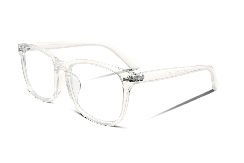 84ed764385 Get Quotations · FEISEDY Square Non prescription Glasses Frame Men Womens  Optical Eyewear Frame B2286