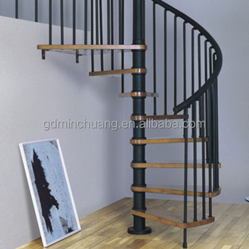 House Stair Material Sample Spiral Staircase Welding Cast Iron Winding  Stairs