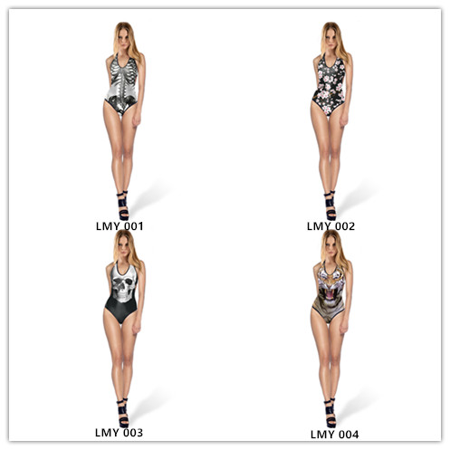wholesale Sexy one piece swimsuit lady Backless bikini swimwear woman