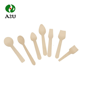 Disposable Natural Smooth Surface Wooden Ice Cream Spoon