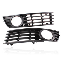 New Styling  2pcs Front Lower Bumper Fog Light Grill Grille For Audi A4 B6 Sedan 2002-2005 Left & Right Replacement