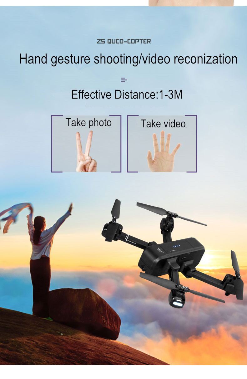 SJRC Z5 Drone with Camera 1080P GPS Drone 2.4G/5G Wifi FPV Altitude Hold Quadrocopter Follow Me RC Quadcopter vs XS812