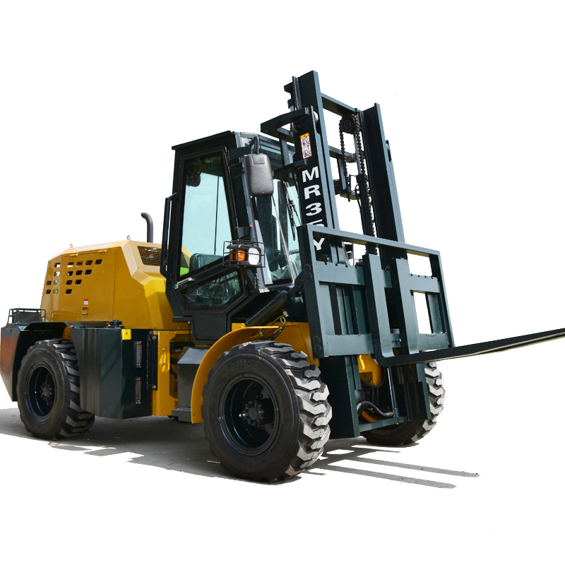 3Ton 3.5Ton Pequeno All Terrain Forklift Truck