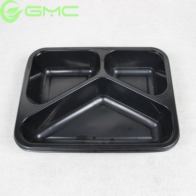 Airline Meal CPET Plastic Tray Three Compartment Disposable Plastic Divided Food Tray