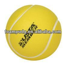 top quality hot sale PU foam tennis shape anti stress ball
