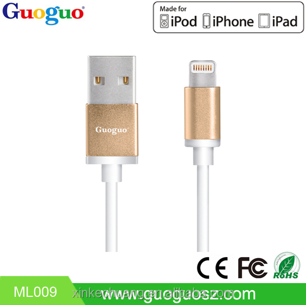 Best Quality 8 Pin MFI Certified Cable in Shenzhen MFI Authorization Manufacturer for iPhone 5s 6 6s