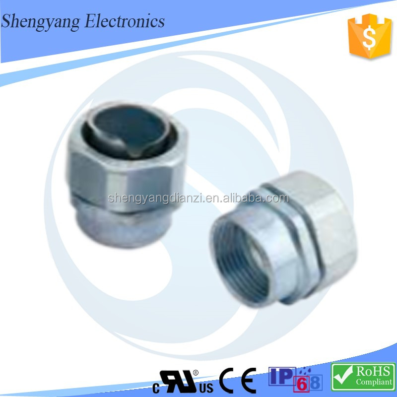 "Female Screw Connection Metal Hose Cable Glands G1/2"" Pipe Threaded For Connection"