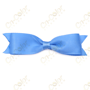 Wholesale gift box with ribbon blue color bows satin gift ribbon cheap bow tie