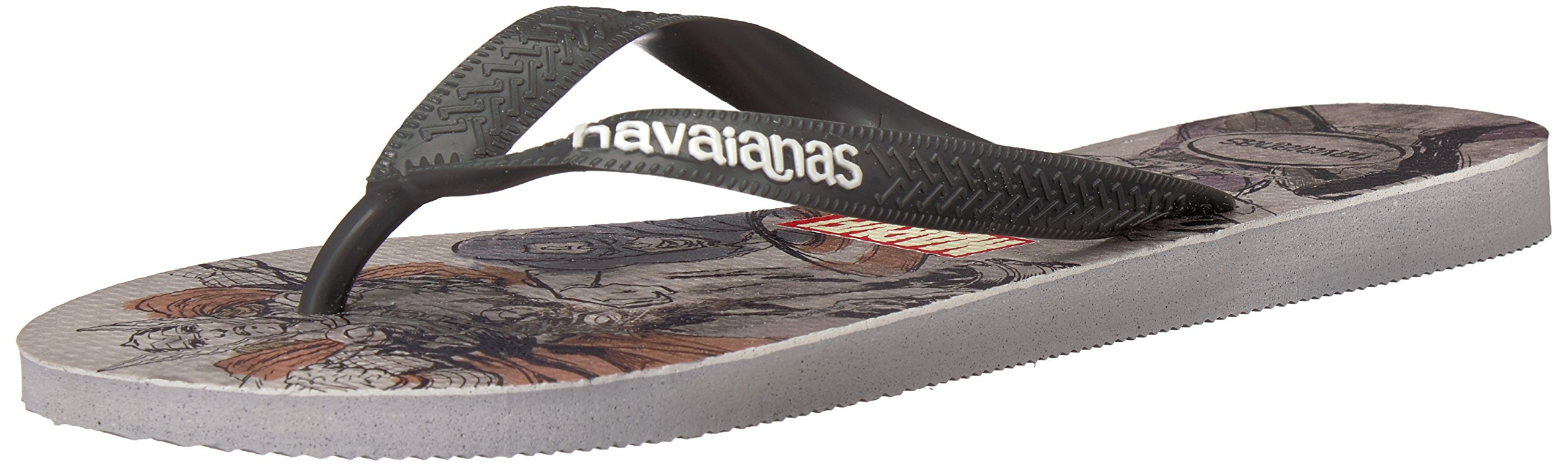 5dbb19268 Get Quotations · Havaianas Men s Top Marvel Avengers Sandal Ice Grey