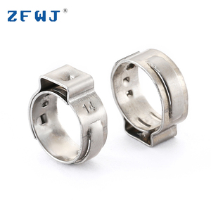 Factory Wholesale Round Eco Friendly Light Single Ear Stainless Steel Clamps